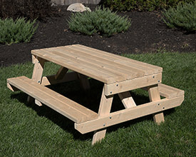 Children's cedar picnic table.