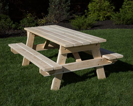Cedar 6 foot picnic table.
