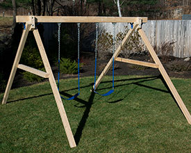 Stand alone swing set.