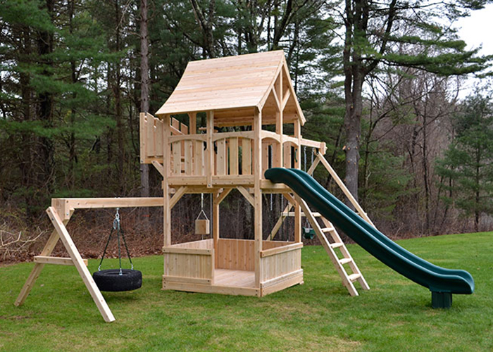 Triumph Play Systems Boosted Kelton swing set in Wayland, MA