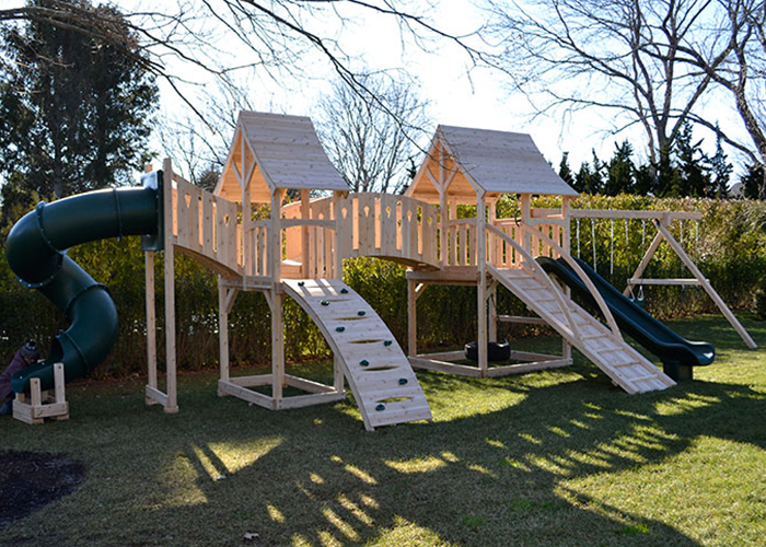 Triumph Play Systems Majestic Double swing set in Southhmapton, NY