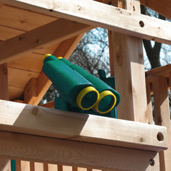 Playset or swing set plastic play binoculars.
