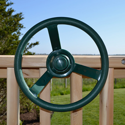Playset or swing set plastic steering wheel.
