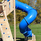 8 foot deck height 360 degree tube slide for wooden swing sets or playsets.