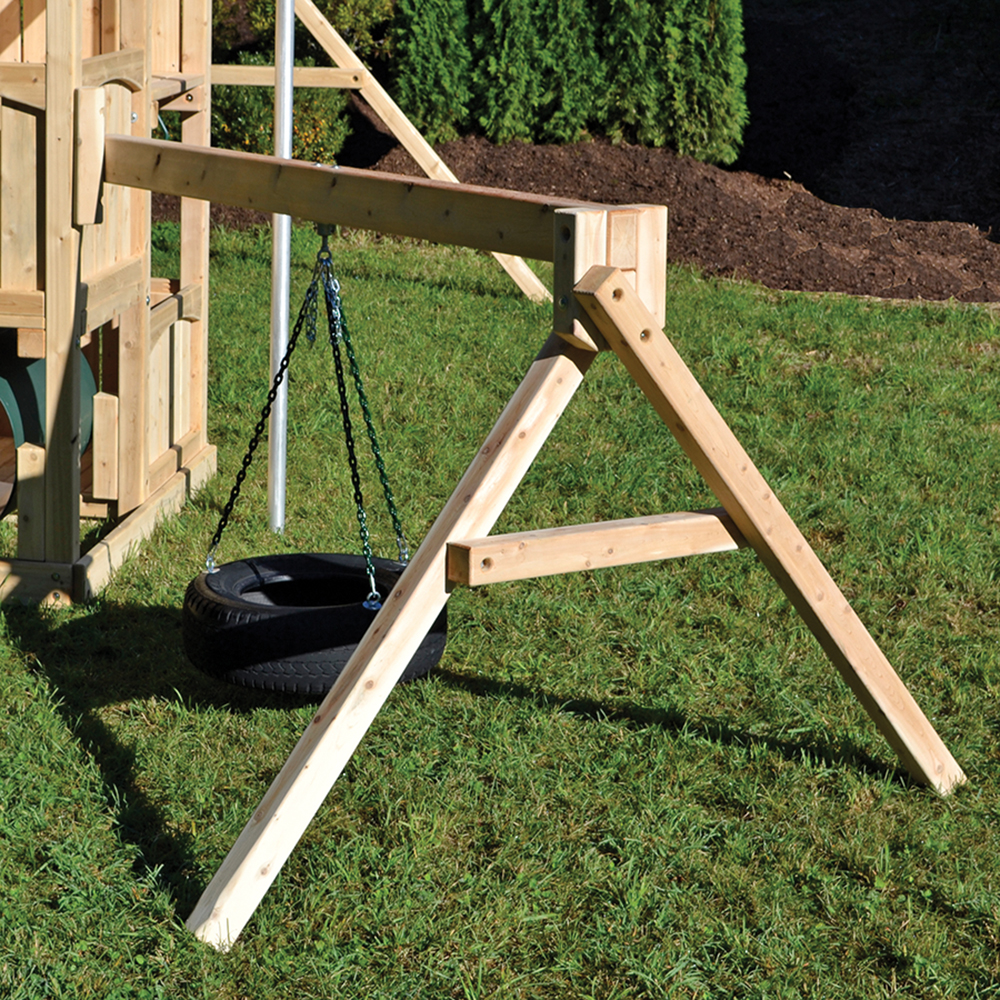 Tire Arm swing set add-on.