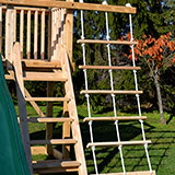 Play Set rope ladder with 3 ropes and 5 rungs.