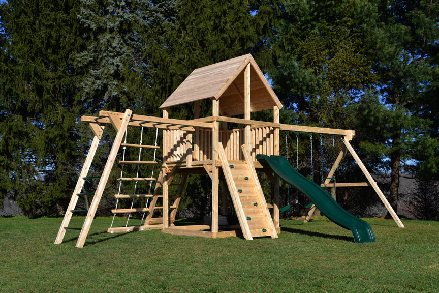 Cedar Swing Sets The Bailey Climber With Options