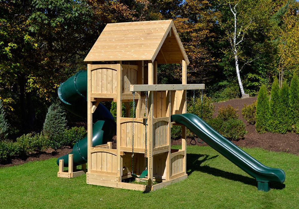 Cedar Swing Sets Canterbury Space Saver Deluxe