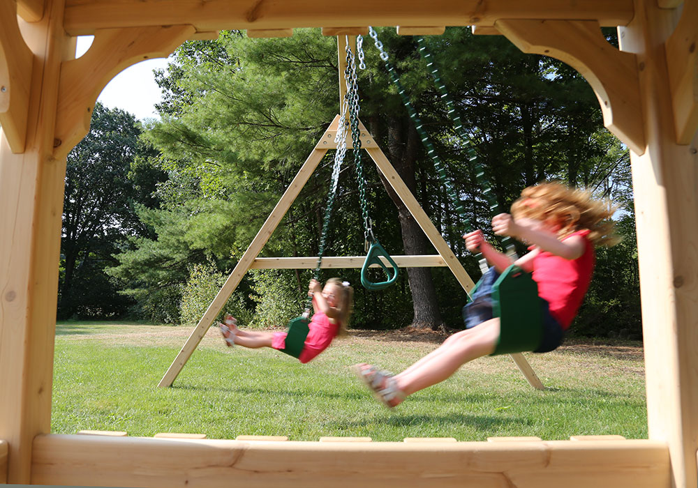 Cedar Swing Sets Kits Wonder Play Set One