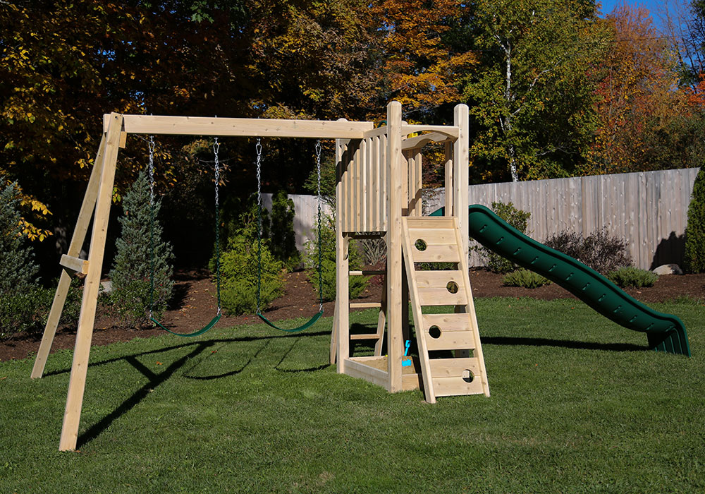Cedar Swing Sets Kits Wonder Play Set Three