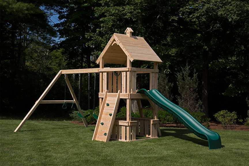 Festival cedar swing set collection.