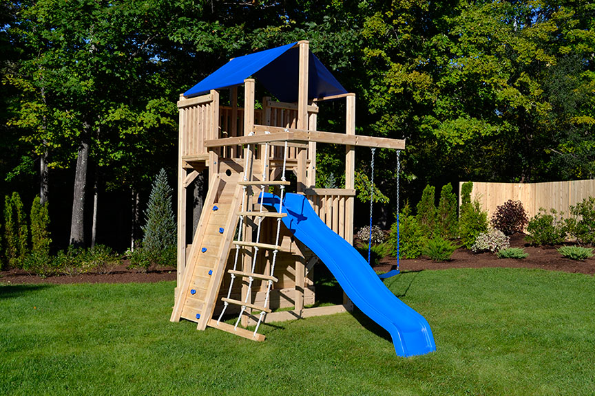 Cedar Swing Sets The Quad Space Saver Climber