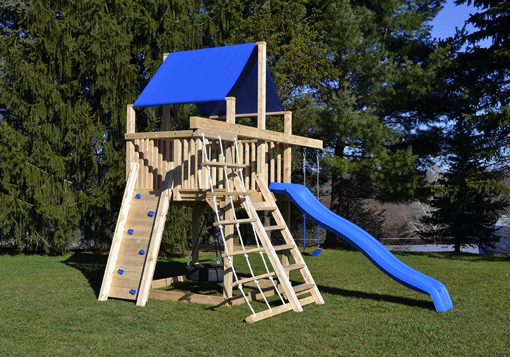 Cedar Swing Sets The Bailey Space Saver Climber