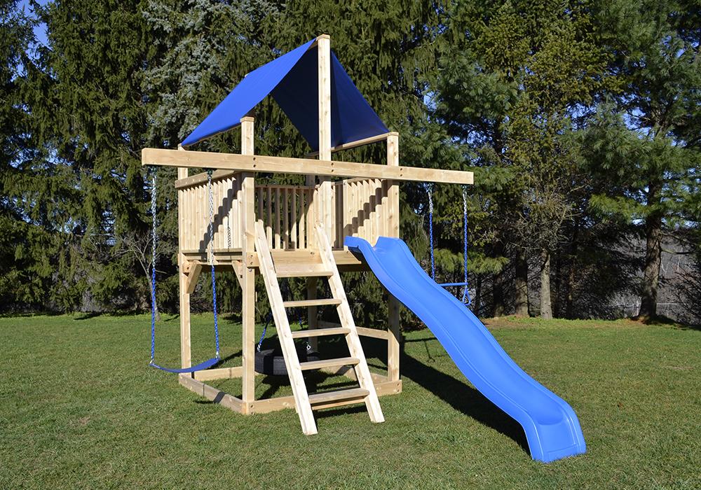 Cedar Swing Sets The Bailey Space Saver