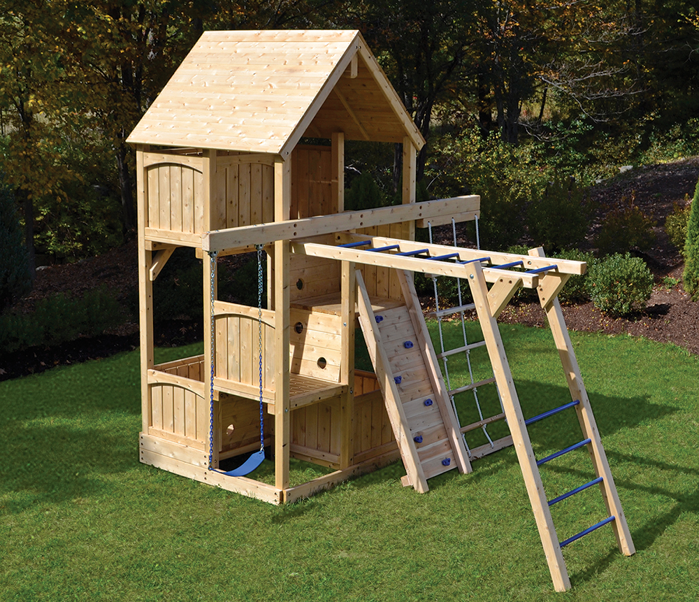 Cedar Swing Sets Canterbury Space Saver Climber