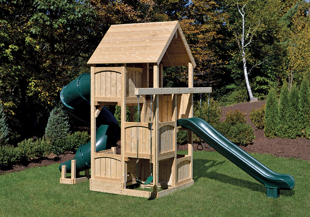 Cedar Swing Sets Canterbury Space Saver Deluxe