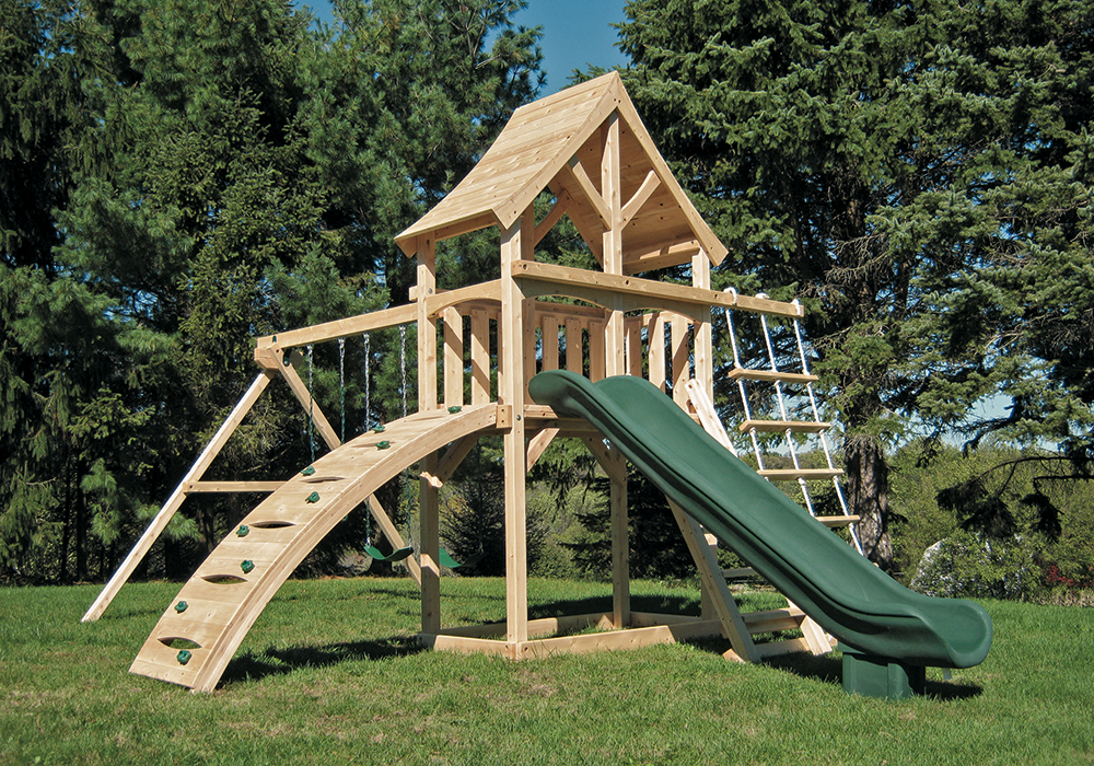 Cedar Swing Sets The Havendale Climber Play Set