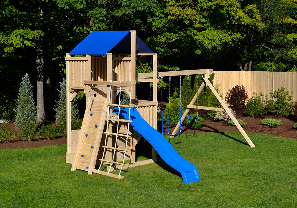Cedar Swing Sets The Quad Climber Play Set